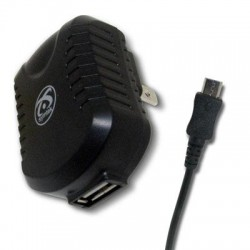 Symtek - TP-AND-321 - Symtek USB AC Charger with Micro USB Connector - 120 V AC, 230 V AC Input Voltage - 5 V DC Output Voltage - 2.10 A Output Current
