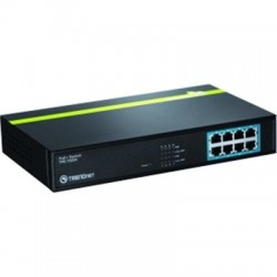 TRENDnet - TPE-T80H - TRENDnet 8-Port 10/100 Mbps PoE+ Switch - 2 Layer Supported - Rack-mountable - Lifetime Limited Warranty