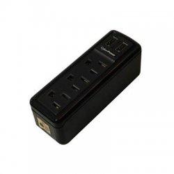 CyberPower - TRVL918 - CyberPower TRVL918 3-Outlets Surge Suppressors - 3 x NEMA 5-15R, 2 x USB - 918 J - 125 V AC Input - 125 V AC, 5 V DC Output