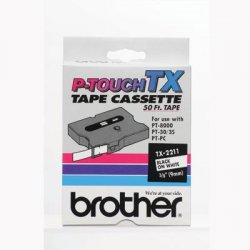 "Brother International - TX2211 - Brother P-Touch TX Laminated Tape(s) - 0.37"" Width - White - 1 Each"