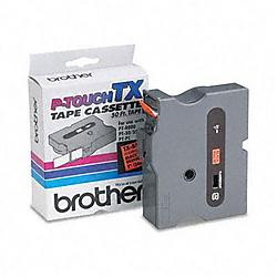 Brother International - TXB511 - Brother P-Touch TX Laminated Tape - 1 Width x 50 ft Length - Direct Thermal - Black - 1 Each