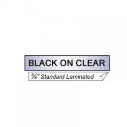 "Other - TZ141 - Black on Clear Laminated Label Tape, Standard Adhesive, 3/4"" x 26.2' (MOQ=6)"