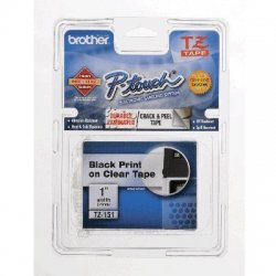 "Other - TZ151 - Black on Clear Laminated Label Tape, Standard Adhesive, 1"" x 26.2'"