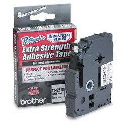 "Brother International - TZS211 - Brother P-Touch TZ Laminated Tape - 0.23"" Width - White - 1 Roll"