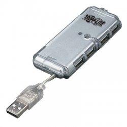 Tripp Lite - U222-004-R - Tripp Lite 4-Port USB 2.0 Mobile Hi-Speed Ultra-Mini Hub w/ Power Adapter - USB - External - 4 USB Port(s)