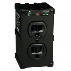 Tripp Lite - ULTRABLOK428 - Tripp Lite Isobar Surge Protector Wall Mount Direct Plug In 2 Out 1410 Jle - Receptacles: 2 x NEMA 5-15R - 1410J