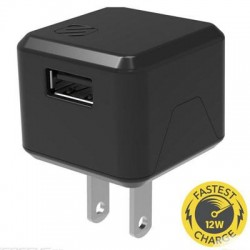 Scosche - USBH121SG - Scosche 12 Watt USB Wall Charger - 12 W Output Power - 120 V AC, 230 V AC Input Voltage - 5 V DC Output Voltage - 2.40 A Output Current