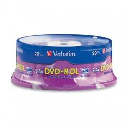 Verbatim / Smartdisk - 95310 - Verbatim DVD+R DL 8.5GB 8X with Branded Surface - 20pk Spindle - 8.5GB - 20pk Spindle