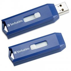 Verbatim / Smartdisk - 97087 - Verbatim 4GB USB Flash Drive - Blue - 4GB - Blue