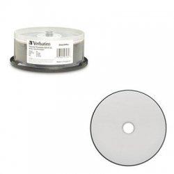 Verbatim / Smartdisk - 97284 - Verbatim BD-R DL 50GB 6X DataLifePlus White Thermal Printable, Hub Printable - 25pk Spindle - 25pk Spindle