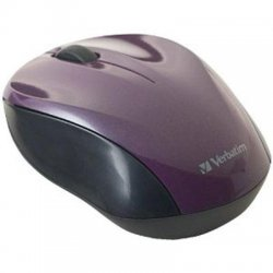 Verbatim / Smartdisk - 97666 - Verbatim Wireless Nano Notebook Optical Mouse - Purple - Optical - Wireless - Radio Frequency - Purple - USB - Computer - Scroll Wheel - 2 Button(s) - Symmetrical