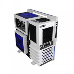 Thermaltake - VN10006W2N - Thermaltake Level 10 GT Snow Edition System Cabinet - Full-tower - White, Black - Steel, Plastic - 10 x Bay - 4 x Fan(s) Installed - Micro ATX, ATX, EATX Motherboard Supported - 28 lb - 5 x Fan(s) Supported - 4 x External 5.25""