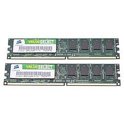 Corsair - VS2GBKIT667D2 - Corsair Value Select 2GB DDR2 SDRAM Memory Module - 2GB (2 x 1GB) - 667MHz DDR2-667/PC2-5300 - DDR2 SDRAM - 240-pin