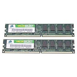 Corsair - VS4GBKIT667D2 - Corsair Value Select 4GB DDR2 SDRAM Memory Module - 4GB (2 x 2GB) - 667MHz DDR2-667/PC2-5300 - DDR2 SDRAM - 240-pin DIMM