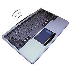Adesso / ADS Technologies - WKB-4000US - Adesso WKB-4000US Wireless Mini Touchpad Keyboard - USB - QWERTY - 88 Keys - Black, Silver