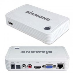 Diamond Multimedia - WPCTV3000 - DIAMOND Wireless HD Display Adapter for Mobile and PC - Functions: Video Streaming, Video Decoding - USB - 1920 x 1080 - VGA - Audio Line Out - Linux, iOS, Android
