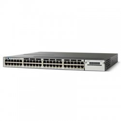 Cisco - WS-C3750X-48P-S - Cisco Catalyst 3750X-48P-S Stackable Ethernet Switch - 48 x Gigabit Ethernet Network - Manageable - 2 Layer Supported - 1U High - Rack-mountable - Lifetime Limited Warranty