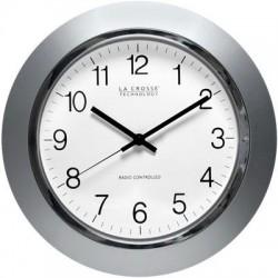 La Crosse Technologies - WT-3144S - 14in Atomic Analog Clock Slvr