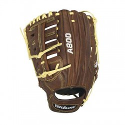 Wilson Sports - WTA08LB16125 - Wilson Showtime 12.5 Baseball Glove - Leather - Brown, Blonde - Low Profile Heel, Reinforced, Dual Welting - For Baseball - 1 Piece