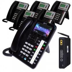 XBlue Networks - X254135 - XBlue X25 System Bundle with (1) X4040 & (5) X3030 IP Phones