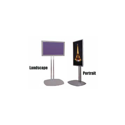 Premier Mounts - PSD-TS72B - Premier Mounts PSD-TS72B Dual Pole Floor Stand - Up to 72 Plasma Display - Black at Sears.com