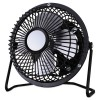 "Alera - FAN041 - 4"" Mini Personal Cooling Fan, Steel, Black/Silver"