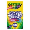 Crayola - 52-6948 - Crayola 48 Ct. Ultra-clean Wash Crayons Washes From Skin Clothes