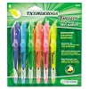 Dixon Ticonderoga - 48008 - Dixon Fluorescent Colors Pocket Highlighters - Chisel Marker Point Style - Fluorescent Blue, Fluorescent Green, Fluorescent Orange, Fluorescent Pink, Fluorescent Purple, Fluorescent Yellow - 6 / Set