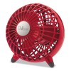 "Honeywell - GF3R - Chillout USB/AC Adapter Personal Fan, Red, 6""Diameter, 1 Speed"