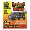Master Caster - MAS17240 - Roll-Arounds Instant Swivel Wheels, Self-Adhesive, Black, 4/Set