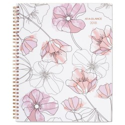 At-A-Glance - 1041905 - Blush Weekly Monthly Planner, 8 1/2 x 11, Pink
