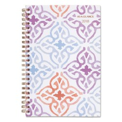 At-A-Glance - 1050200 - Cecilia Weekly/Monthly Planner, 4 7/8 x 8, Design, 2018
