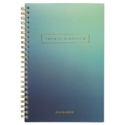At-A-Glance - 105420020 - Aurora Day Weekly/Monthly Planners, 4 1/2 x 8, Blue Ombre, 2018, 12-Month