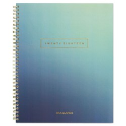 At-A-Glance - 105490520 - Aurora Day Weekly/Monthly Planners, 8 1/2 x 11, Blue Ombre, 2018, 12-Month