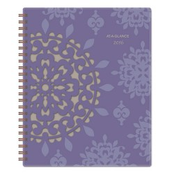At-A-Glance - 122905 - Vienna Weekly/Monthly Appointment Book, 8 1/2 x 11, Purple, 2018