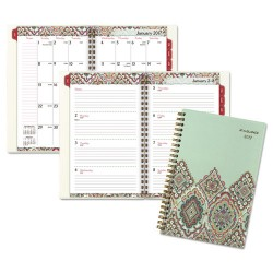 At-A-Glance - 182200 - Marrakesh Desk Weekly/Monthly Planner, 5 3/4 x 8 1/8, 2018