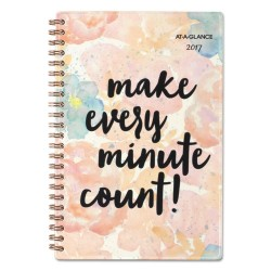 At-A-Glance - 187200 - B-Positive Desk Week/Month Planner, Make Every Minute Count, 4 7/8 x 8, 2018