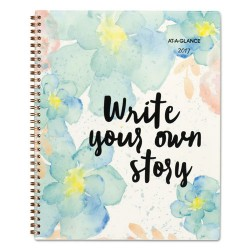 At-A-Glance - 187905 - B Positive Prof. Week/Month Planner, Write Your Own Story, 9 1/4 x 11 3/8, 2018