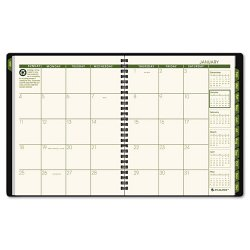 At-A-Glance - 70120G0509 - Recycled Monthly Planner, 6 7/8 x 8 3/4, Black, 2018