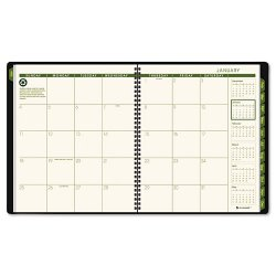 At-A-Glance - 70260G6009 - Recycled Monthly Planner, 9 x 11, Green, 2018-2019