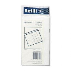 At-A-Glance - 70-906-10 - Recycled Monthly Planner Refill, 3-1/2 x 6-1/8, 2015-2016