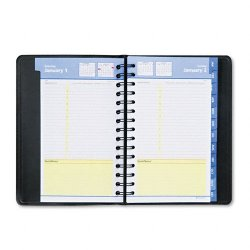 At-A-Glance - 76-04-05 - QuickNotes Daily/Monthly Appointment Book/Planner, 4 7/8 x 8, Black, 2018