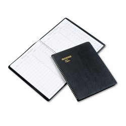 At-A-Glance - 80-580-05 - Recycled Visitor Register Book, Black, 8 1/2 x 11