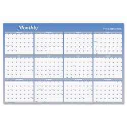At-A-Glance - A1102 - Vertical/Horizontal Erasable Wall Planner, 24 x 36, 2015