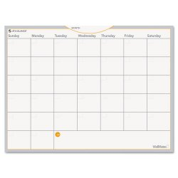At-A-Glance - AW502028 - WallMates Self-Adhesive Dry Erase Monthly Planning Surface, 24 x 18