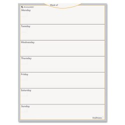 At-A-Glance - AW503028 - WallMates Self-Adhesive Dry Erase Weekly Planning Surface, 18 x 24