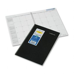 At-A-Glance - AY2-00 - Recycled Monthly Academic Planner, Black, 7 7/8 x 11 7/8, 2014-2015