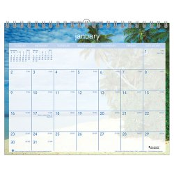At-A-Glance - DMWTE8-28 - Tropical Escape Wall Calendar, 15 x 12, 2017