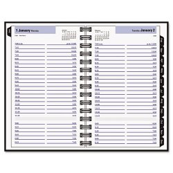 At-A-Glance - 11G100H0006 - Hardcover Daily Appointment Book, 4 7/8 x 7 7/8, Black, 2018