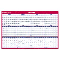 At-A-Glance - PM26-28 - Erasable Vertical/Horizontal Wall Planner, 24 x 36, Blue/Red, 2018